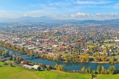 Stock Image Willamette River Panorama
