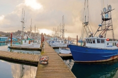 Newport Yaquina Harbor Stock Image